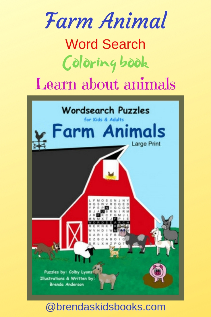 Farm puzzle book, barn with animals, coloring book, all about animals,