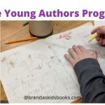 Free Young Authors Program, child working on illustrations for his story
